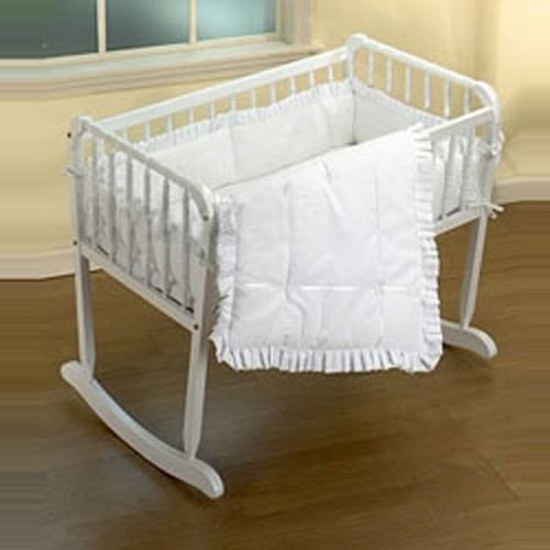Baby Doll Bedding Simplicity Cradle Set, White