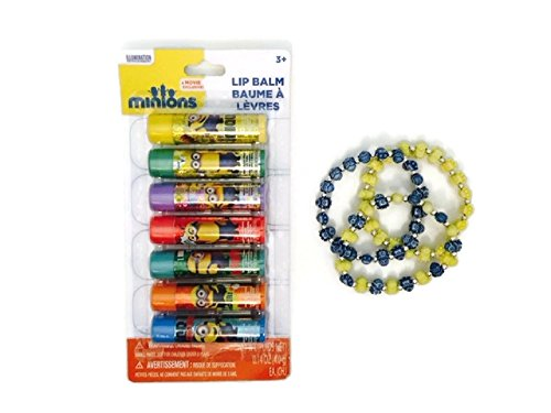 despicable-me-minions-bracelet-lip-gloss-bundle-childs-jewelry-balm-gift-set