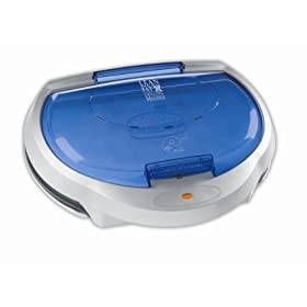George Foreman GR15BWI Super Champ Family Size Grill with Indigo Bun Warmer