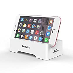 EasyAcc Smart Dock , With Card Reader USB HUB OTG Docking and Charging Dock for Samsung Galaxy Tab , iPad , Kindle Fire ,Android Phone ,White