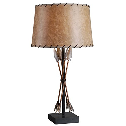 Kenroy Home 32557ATW Bound Arrow Table Lamp, Antique Wash Finish