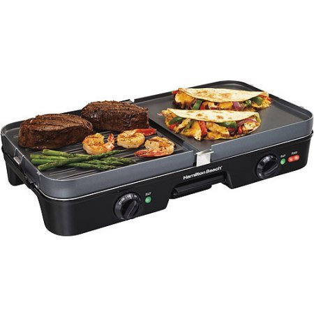 Hamilton Beach 3-in-1 Reversible Electric Nonstick Countertop Grill/Griddle (Hamilton Beach Electric Griddle compare prices)
