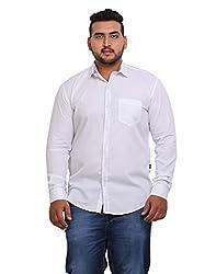 John Pride Men's Casual Shirt 1968444031_White_XXX-Large