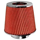 Round Chrome Open Top (Red Mesh Funnel)