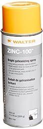 Walter 53H102 Zinc-100 Bright Galvanizing Spray, 326g Aerosol Can