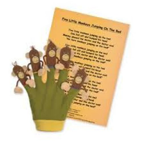 The Puppet Company Favourite Song Mitts Five Little Monkeys Glove Puppet