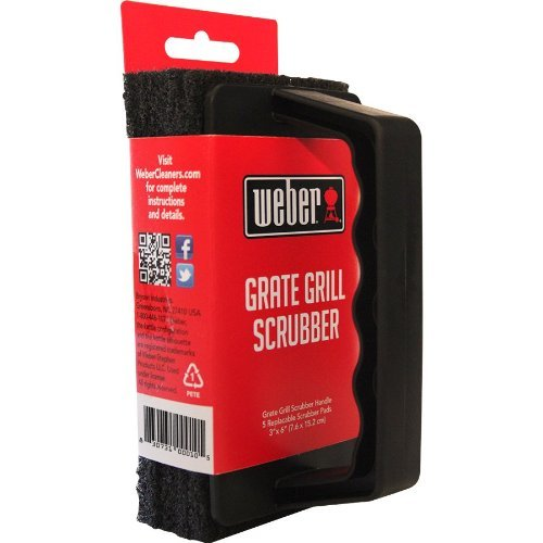 Weber Grill Brush Scrubber - Heavy Duty Grate Cleaner - With 3 Replaceable Pads (Best Weber Bbq compare prices)