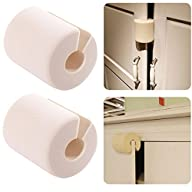 7th Element Finger Pinch Guard Door Stopper Indoor Children Safety Product (Beige White 2 Count)