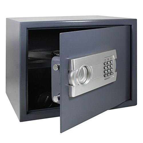 hmf 4612312 coffre fort coffre fort poser avec serrure lectronique 38 x 30 x 30 cm. Black Bedroom Furniture Sets. Home Design Ideas