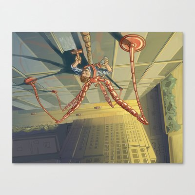 Society6 - Window Washer Stretched Canvas By Craig Holland Illustration front-58653