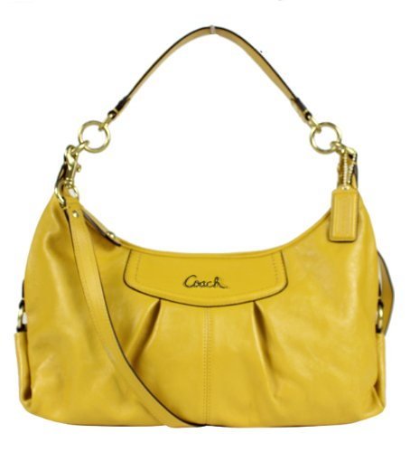 Coach Leather Ashley Convertible Hobo Handbag 19761 Sunflower Yellow