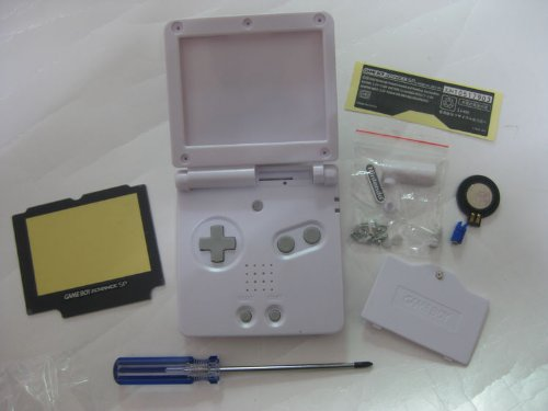 Full Parts Replacement Housing Shell Pack for Nintendo Gameboy Advance Sp GBA Sp(white)(no Battery) (Gameboy Advance Sp Full Housing compare prices)