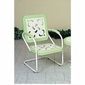 Garden Odyssey 91674 Retro Arm Chair 2 Tone, Lime Green (Discontinued by Manufacturer)