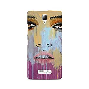 MOBICTURE Girl Abstract Premium Designer Mobile Back Case Cover For Lenovo A2010