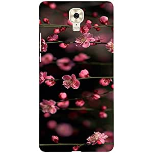 Casotec Pink Flowers Design 3D Printed Hard Back Case Cover for Gionee M6 Plus