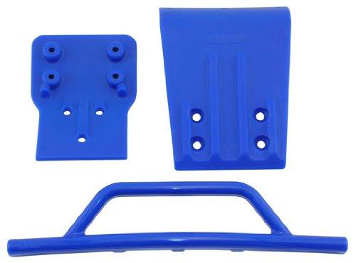 RPM Traxxas Slash 4x4 Front Bumper and Skid Plate, Blue (Slash 4x4 Rpm Bumper compare prices)