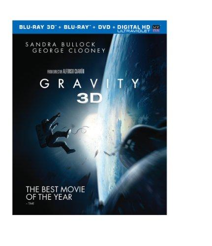 Gravity (Blu-ray 3D + Blu-ray + DVD + UltraViolet