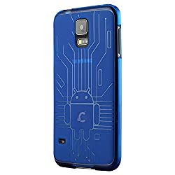 Galaxy S5 Cruzerlite Bugdroid Circuit Designer Case for Samsung Galaxy S5 -Blue