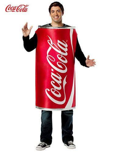 Unisex Coca Cola Can Tunic Adult Costume