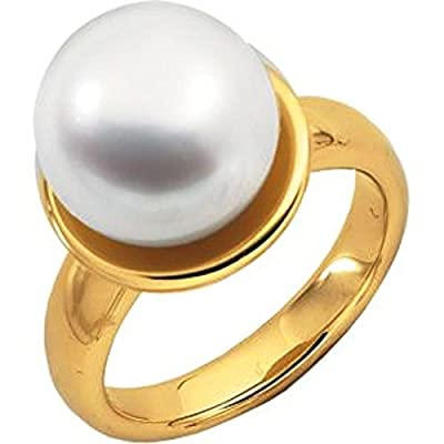 South Sea Cultured Pearl Ring in 18k Yellow Gold - Size 6