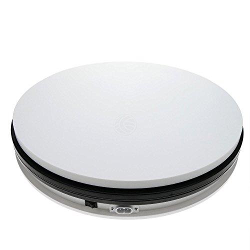 Base tournant électrique de d35cm H6cm blanc