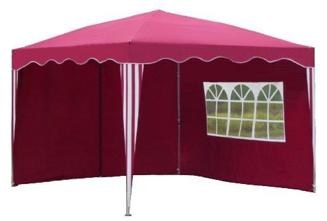 kronenburg falt pavillon 3 x 3 m mit 2 seitenteilen in rot wir machen. Black Bedroom Furniture Sets. Home Design Ideas