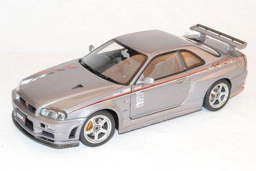 Nissan Skyline GT-R S-Tune R34 S1 Grau Coupe 1998-2002 77358 1/18 AutoArt Modell Auto