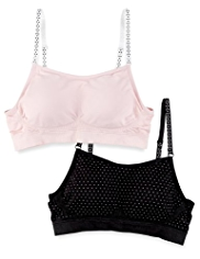 2 Pack Angel Assorted Seamfree Santoni Crop Tops