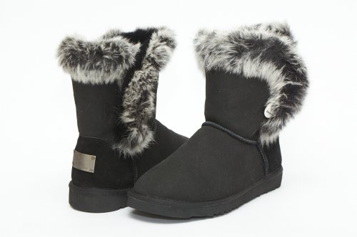 Cheap UniKoala Women's Classic Sheepskin Bunny Black (B0073VDKJW)