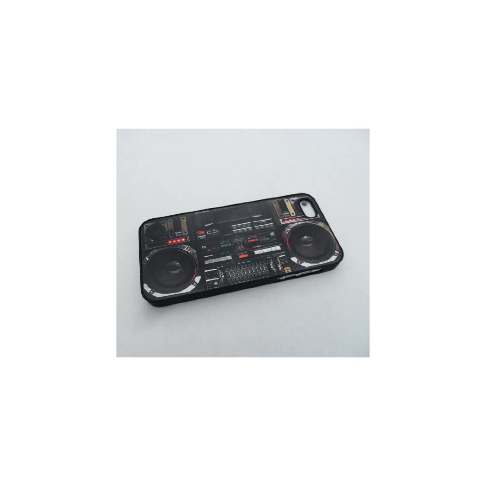 Boombox Ghetto Blaster Funny Iphone 5 Case, Iphone Cover, Iphone Hard Case Black   All Carriers Cell Phones & Accessories