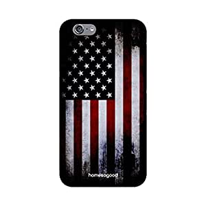 HomeSoGood Superb American Flag Black 3D Mobile Case For iPhone 6S (Back Cover)