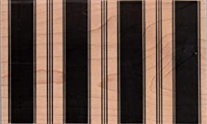 Large Wide Stripe Background Wood Mounted Rubber Stamp (639K)