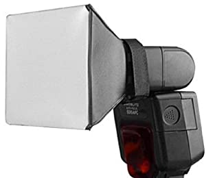 Universal Flash Diffuser for Shoe Mount Flashes / Handle Mount Flash soft box style white surface