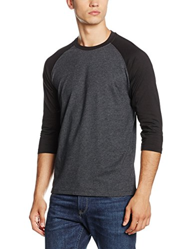 Urban Classics Contrast 3/4 Sleeve Raglan Tee, T-Shirt Uomo, Multicolore (Cha/Blk 314), Medium