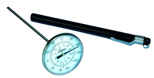 Supco ST08 Stainless Steel Pocket Dial Thermometer, 5
