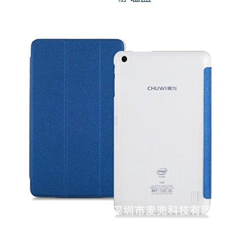 CHUWI Hi8 Pro / Vi8 Plus caso / case, KuGi ® CHUWI Hi8 Pro / Vi8 Plus caso - Multi-Angle basamento di Slim-Book PU Cover in pelle di caso per CHUWI Hi8 Pro / Vi8 Plus Tablet.(Blu)