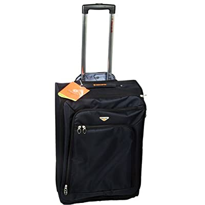"24"" Ultra Light Travel Trolley Case Suitcase Black from XS-Stock.com Ltd"