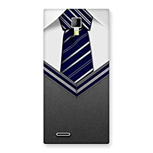 Luxirious Grey Uniform Back Case Cover for Micromax Canvas Xpress A99