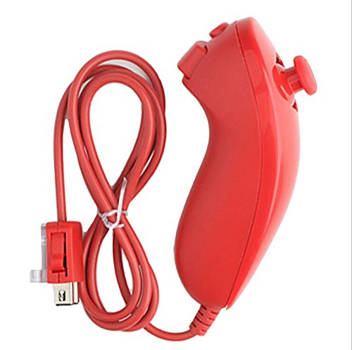 Generic Red Nunchuck Controller for Nintendo Wii Video Game