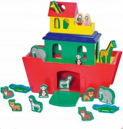 Melissa & Doug: Noah's Ark Activity Set, 22 Piece Set, Solid Wood - 1