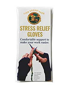 Lion Brand Stress Relief Gloves, Medium