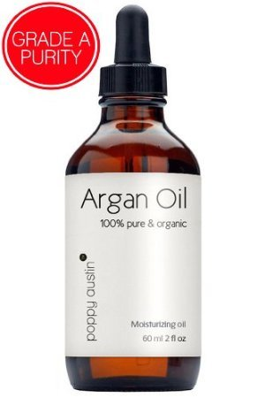 100% Pure Organic Argan Oil By Poppy Austin??? - #1 Moroccan Argan Oil For Hair - Ecocert Approved 60 Ml / 2 Oz - Lightweight, Quick To Absorb And Hydrate - Cold Pressed Moroccan Oil, Rich In Anti-Aging Vitamin E For Face & Skin - Made In Morocco 2013