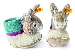 Issy Donkey Booties, Taupe Grey/Petroleum Blue/Bla
