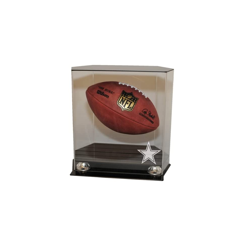 33ba2fbc2f Dallas Cowboys Floating Football Display Case Sports on PopScreen
