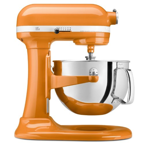 Orange Kitchen Aid Mixer front-635159
