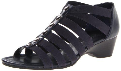 Bella Vita Women'S Paula Ii Wedge Sandal,Navy,8 W Us