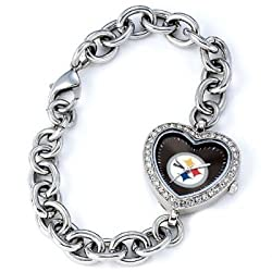 Pittsburgh Steelers Gametime Heart Bracelet/Watch
