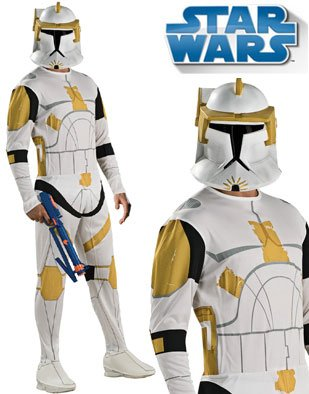 Rubies Costumes Unisex Star Wars Animated Clone Trooper Commander Cody Adult Costume