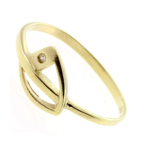 Damen Ring echt Gold 333 Zirkonia