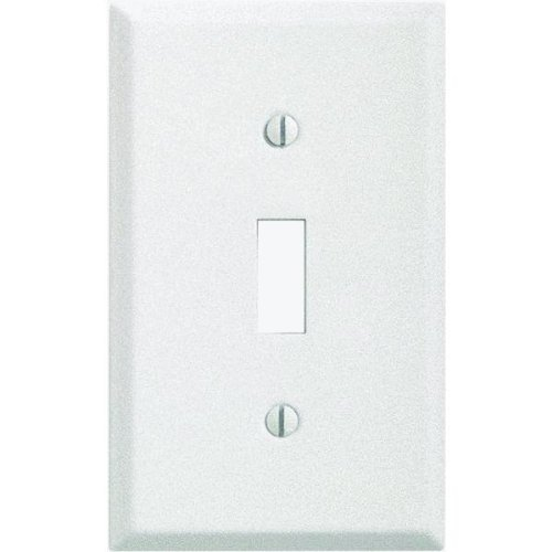 Pro-White Steel Wrinkle Switch Wall Plate-WHT SWITCH WALL PLATE